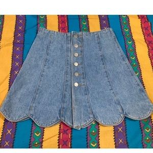 vintage early 90s Contempo Jeans denim skirt 5